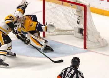Must see: Crosby scores with a beautiful move on the breakaway.