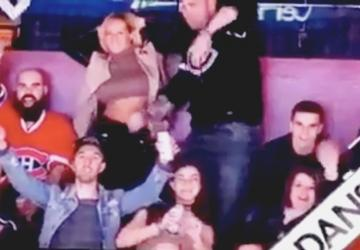 Video: Girl flashing her boobs on the scoreboard!