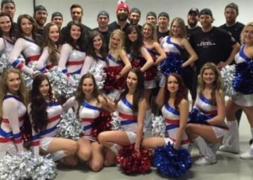 (Photos): Claude Giroux looks right at home surrounded by beautiful ladies.