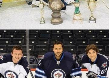 (Photos): Three NHL teammates recreate a photo from their childhood.