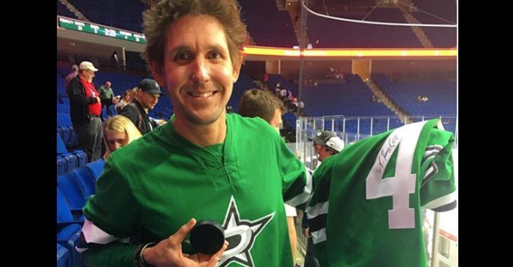 Stars' Radulov wore a replica jersey off a fan's back for preseason game