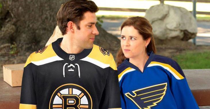 Steve Carell settles Blues/Bruins dispute between The Office castmates