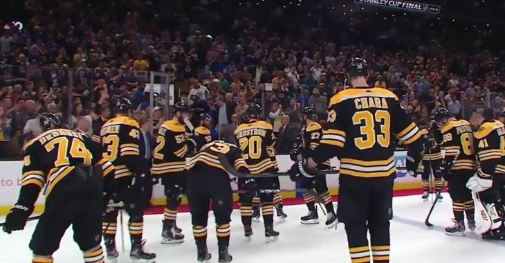 Marchand looks on in tears as Blues celebrate Game 7 win