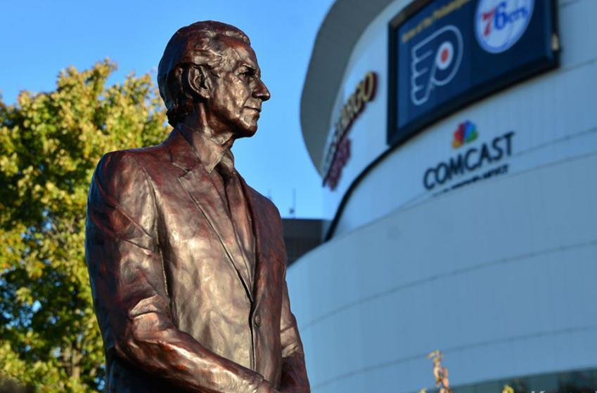 Must See: Pens fan desecrates Ed Snider statue outside Wells Fargo Center