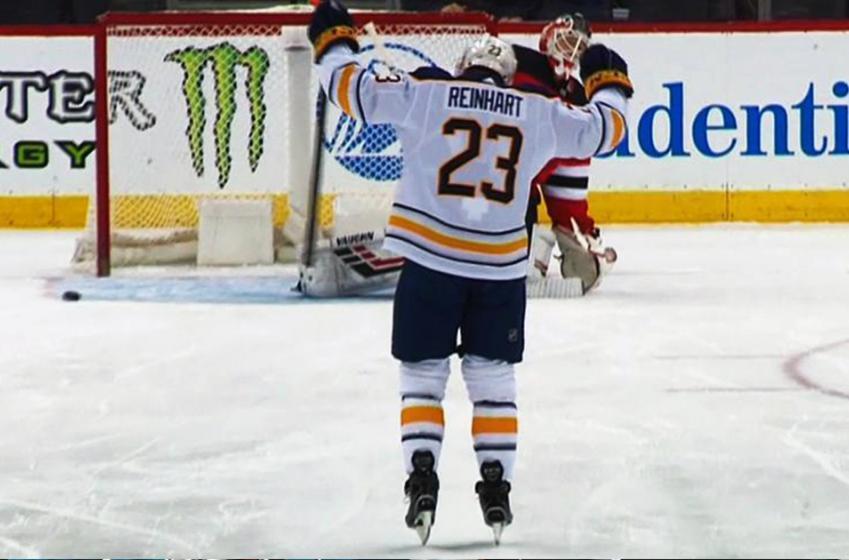 Reinhart beats Schneider from center ice