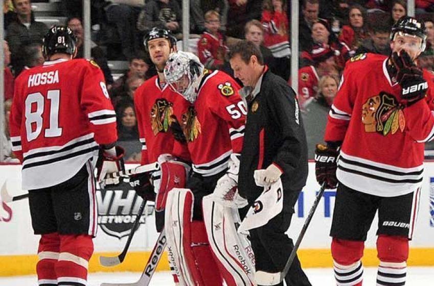 Breaking: Crawford gets kneed in the head!
