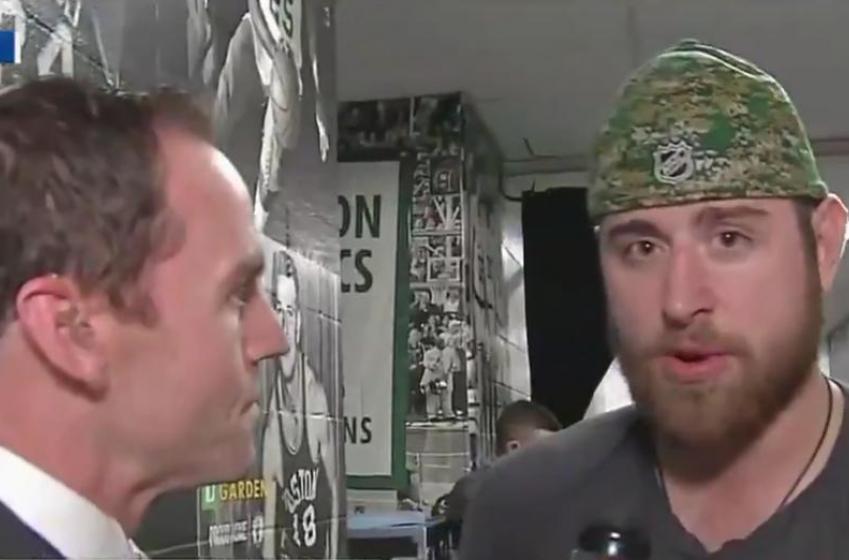 Brandon Dubinsky roasts Boston fans after big win in Game 2.