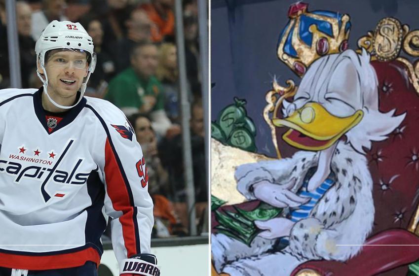 Kuznetsov receives incredible Scrooge McDuck painting