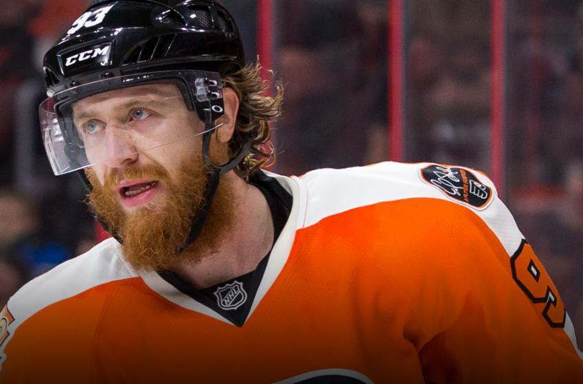 Goal of the night: Voracek sets up absolutely ridiculous goal
