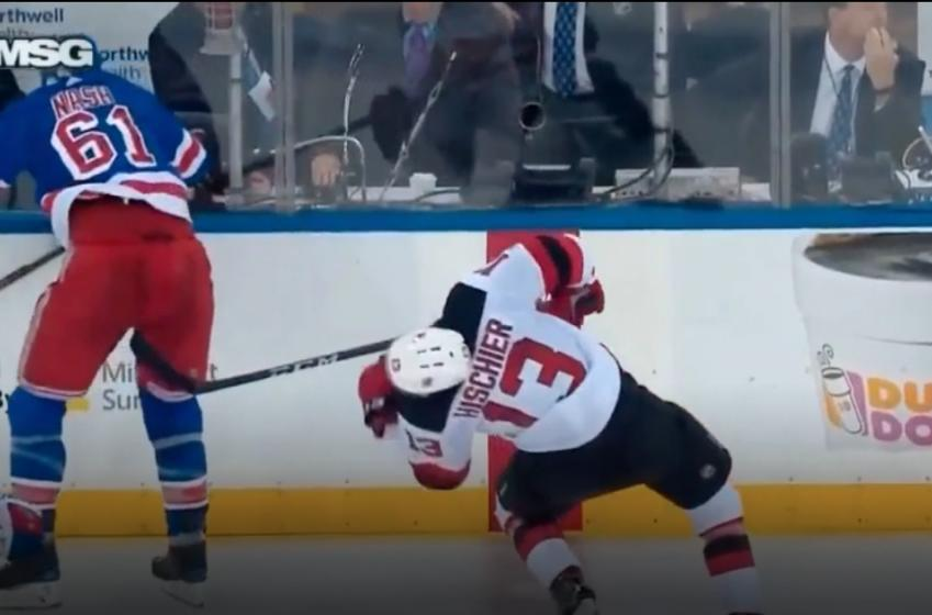 Nash unleashes vicious headshot on Hischier