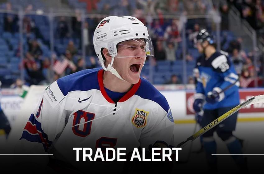 Breaking: Hurricanes trade top prospect Adam Fox