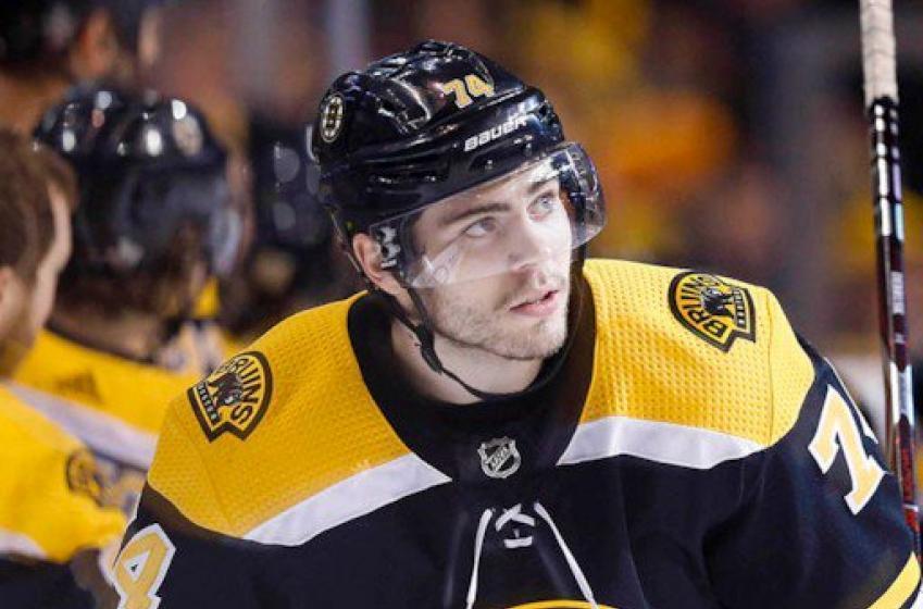 Breaking: Bruins' DeBrusk missing from practice after Kadri's brutal hit last night
