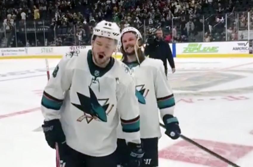 Karlsson drops an F bomb on live TV after Hertl's OT heroics
