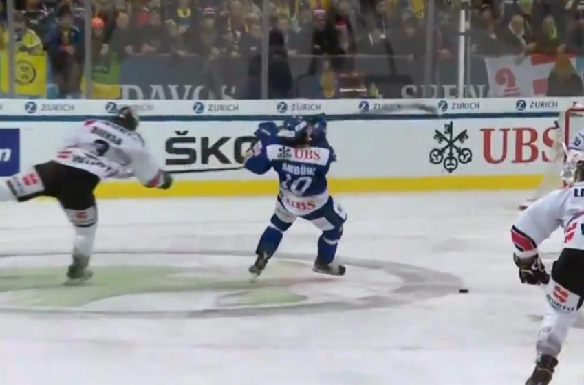Bieksa obliterates Swiss player in Spengler Cup opener