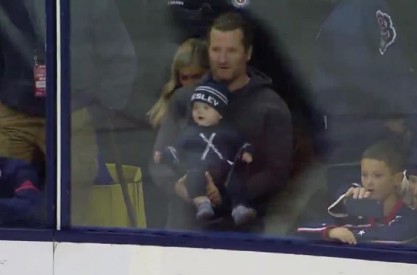 Scott Hartnell shows off his beautiful baby boy on Saturday night!