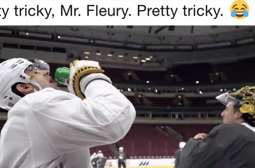 Fleury's water bottle prank on Pacioretty backfires