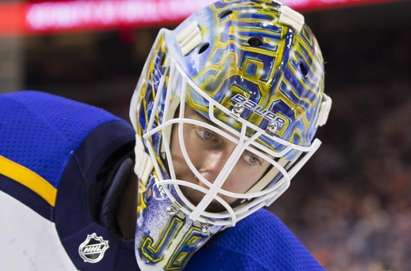 Goaltender Jordan Binnington suddenly dominating at the NHL level.
