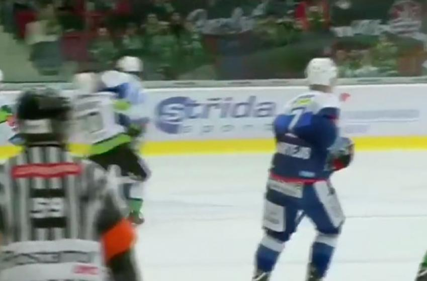 Former NHLer Erat nearly decapitates opponent; leads to line brawl!