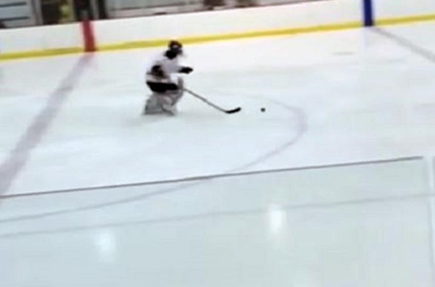 High school goalie scores beautiful shootout goal in charity game