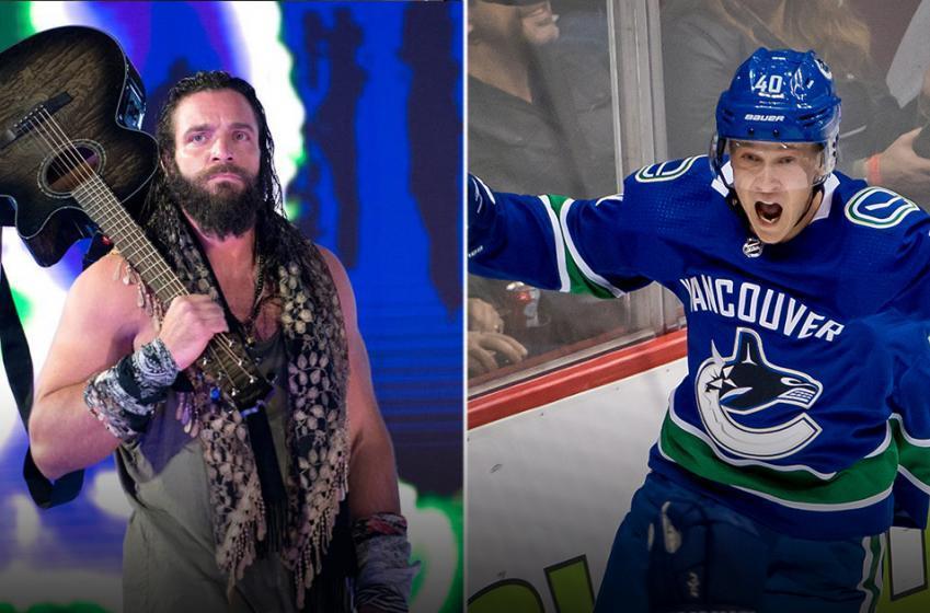WWE superstar Elias and Canucks rookie Elias Pettersson tag team it up on social media
