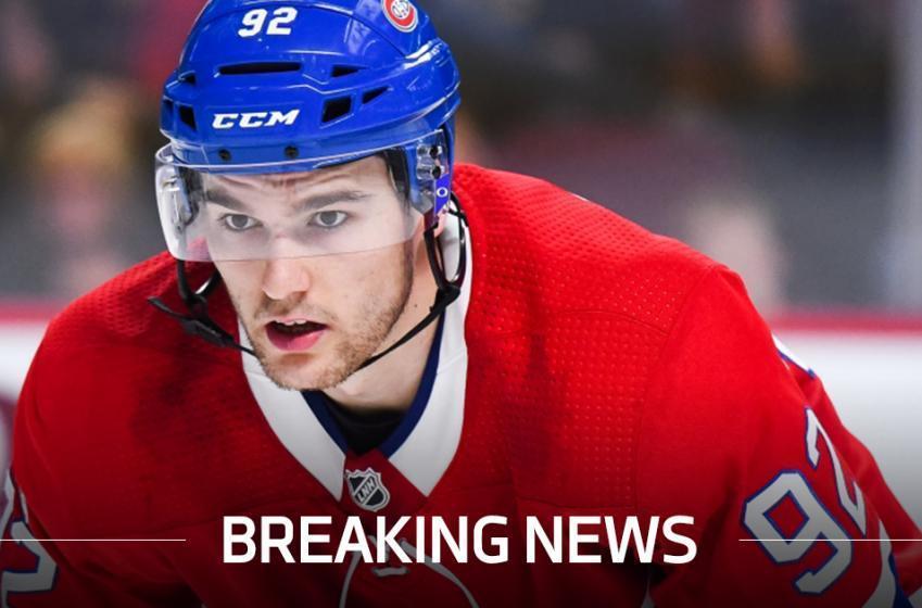 Breaking: Jonathan Drouin is injured