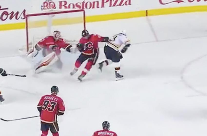 Must see: Goal of the Night - Brad Marchand ends up Flames winning streak