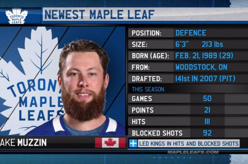 Leafs newcomer Muzzin talks Dougie, Wendel and growing up a Leafs fan