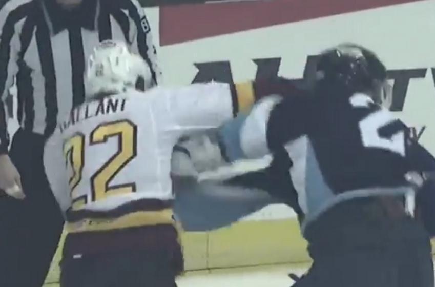 Gallant destroys Jared Tinordi in vicious beatdown.