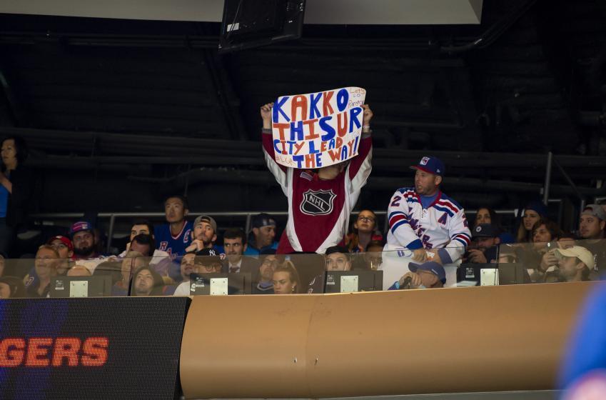 Kaapo Kakko had a special gift for a lucky Rangers fan