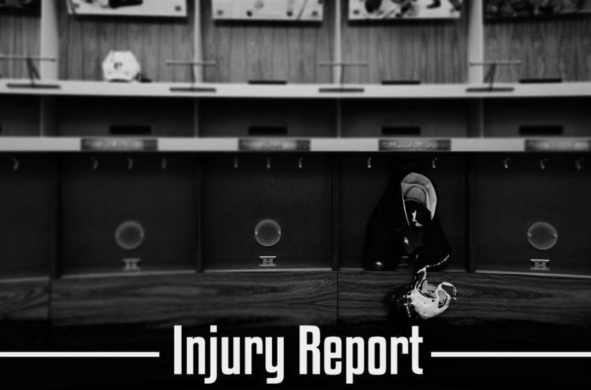 Injury report: Top defenseman, already injured!