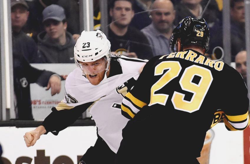 Gotta see it : Scott Wilson drops Boston Bruins Colin Miller