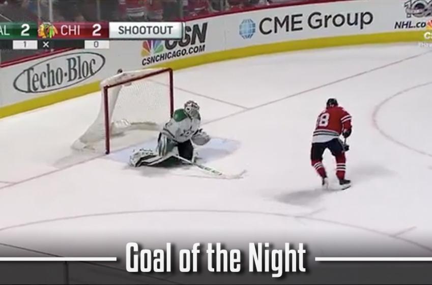MUST  SEE: Goal of the Night - Patrick Kane incredible dekes.