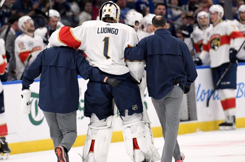 Breaking: Luongo suffers yet another leg injury!