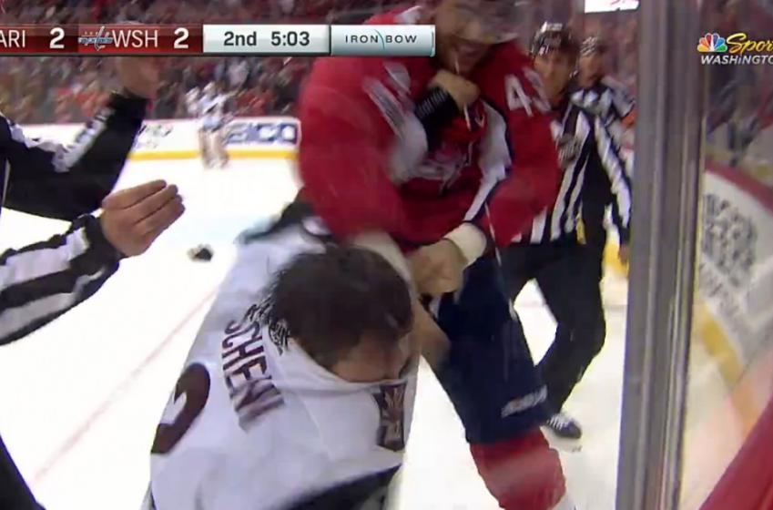 Tom Wilson destroys another Schenn brother on Monday night.