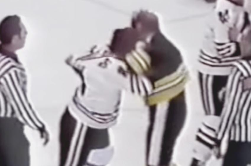 Gotta see it : Good ol' brawl between Cashman and Logan on Feb. 18 1978.