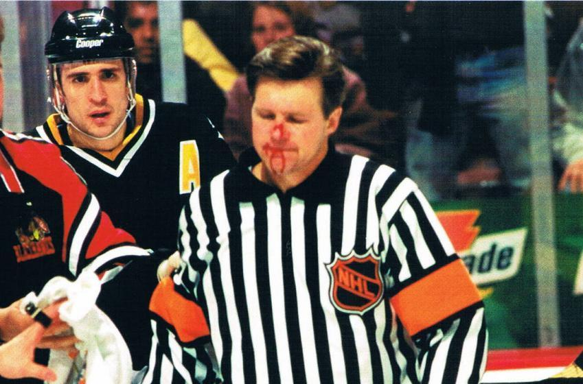Kerry Fraser recalls how Theo Fleury once challenged him to a parking lot fight