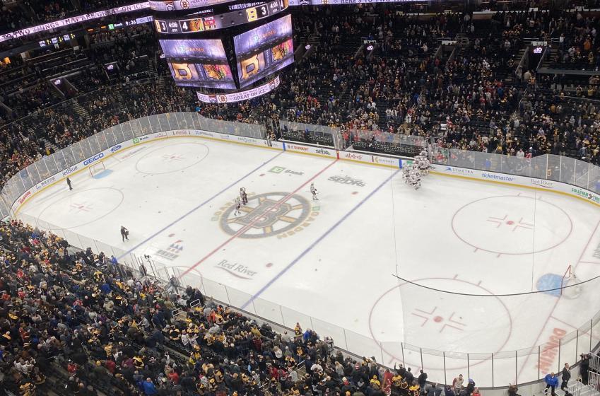 Trash-throwing Bruins fans take flak on social media
