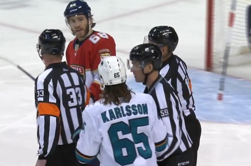 Mike Hoffman reveals Erik Karlsson refused to fight him.