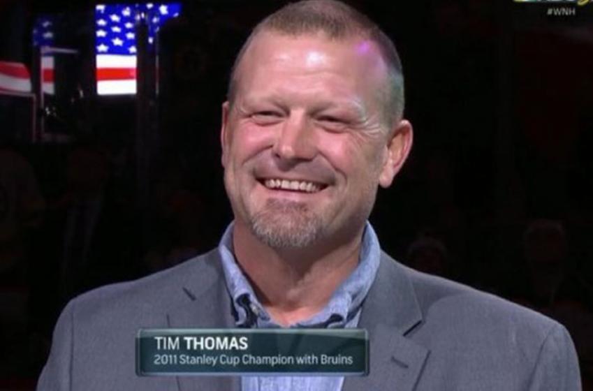 Tim Thomas makes a surprise return to the hockey world