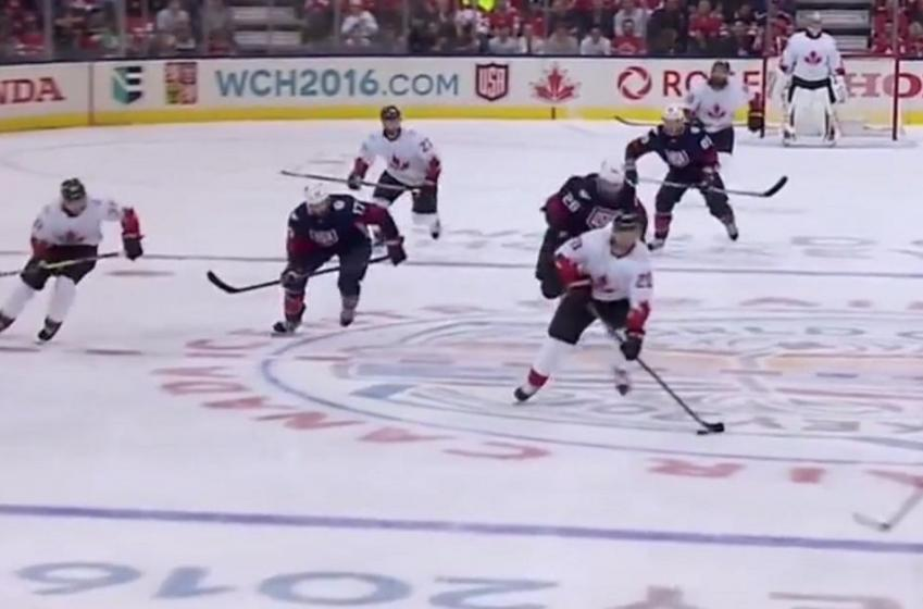 Nasty move from John Tavares gives Canada a three goal lead!