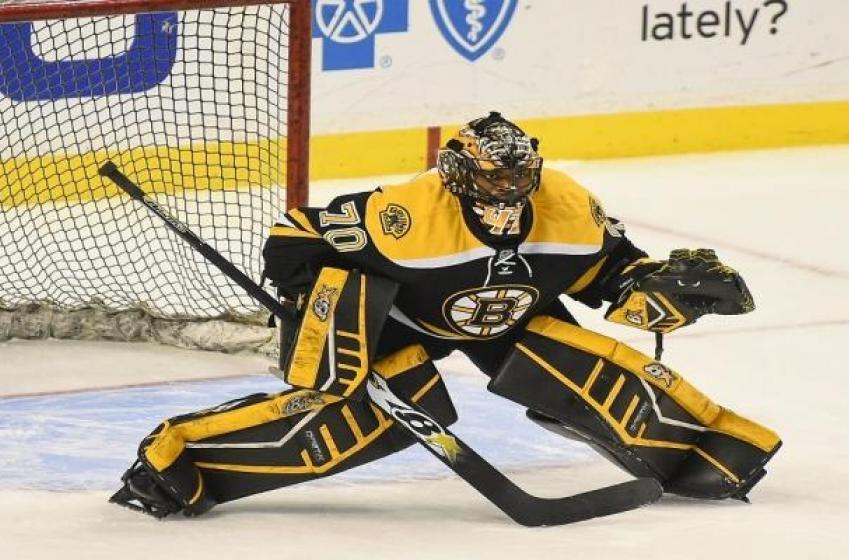 Bruins goalie prospect rushed to hospital