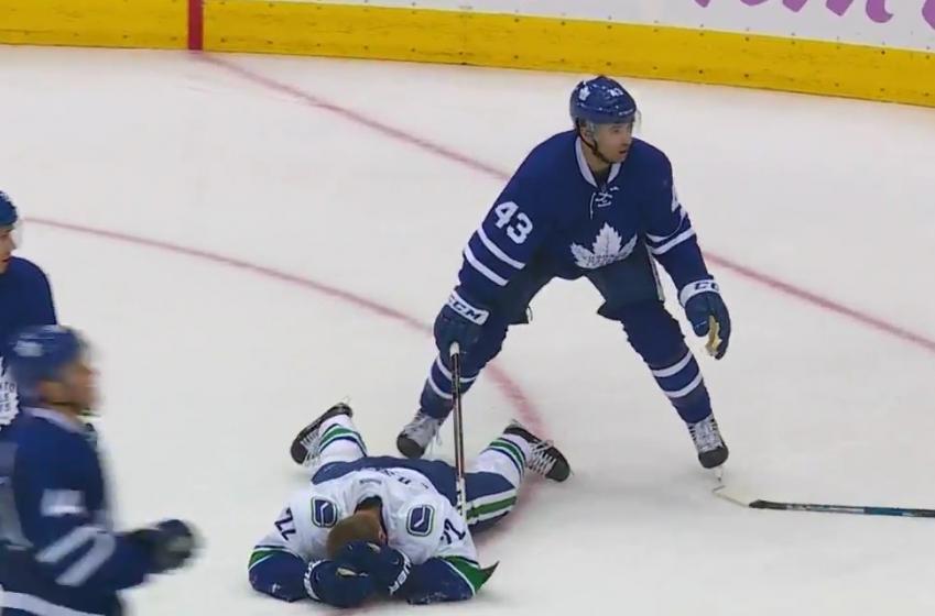 The Canucks respond to NHL's decision on blindside Sedin hit.
