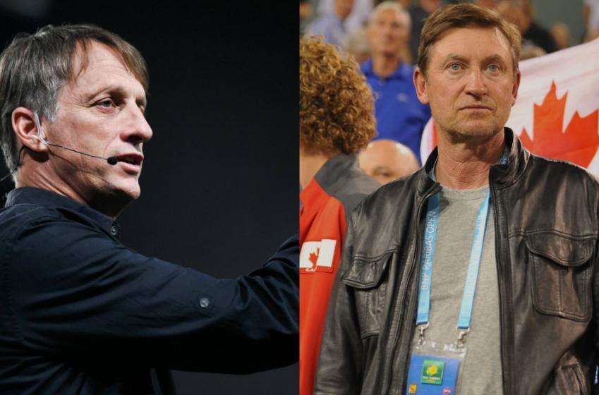 NHL legend Wayne Gretzky battles X Games legend Tony Hawk in an Epic Rap Battle.