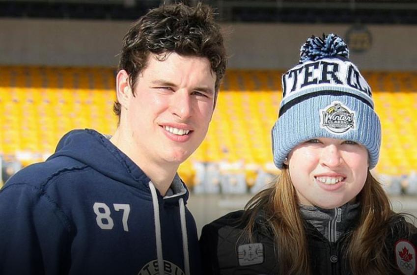 Crosby's kid sister pokes fun at his superstar status