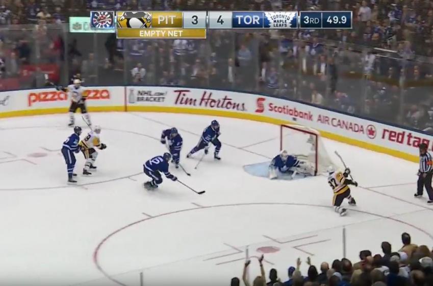 McElhinney robs Crosby, send Leafs into playoffs.