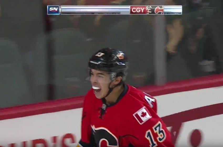 Gaudreau just scored a ridiculous goal, video inside.