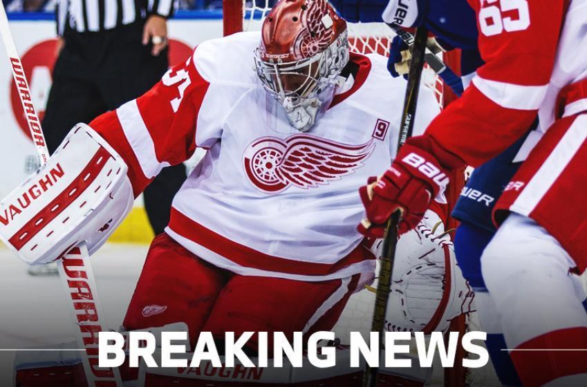 Breaking: Red Wings make a big change in goal.