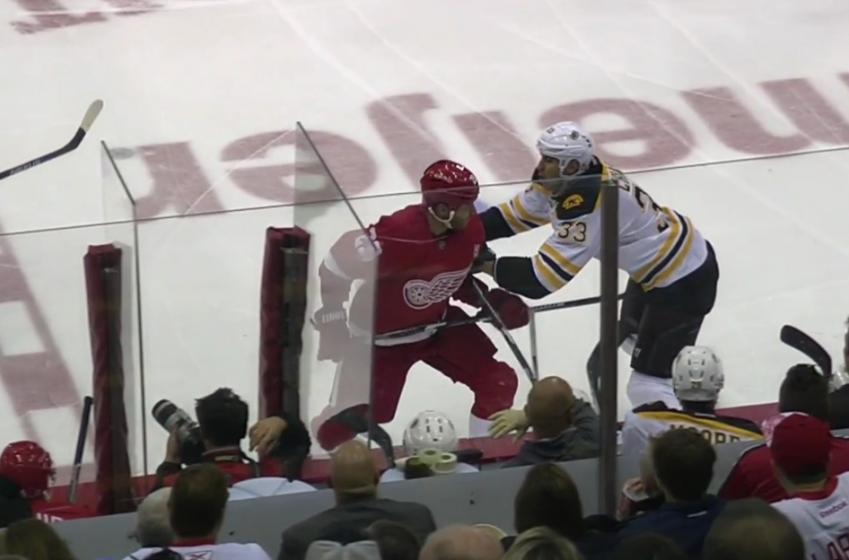 Player receives league discipline after vicious spear.