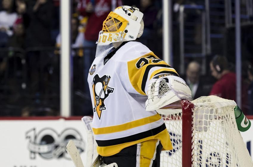 Marc-Andre Fleury sends a harsh message to former teammate Matt Niskanen after Crosby injury.