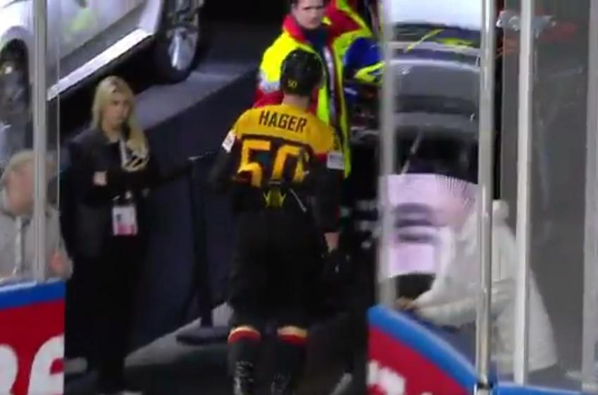 German player ejected after DANGEROUS slew foot at World.